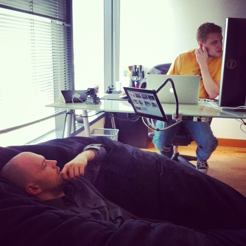 Who says you can't be hard at work and comfortable (Taken with instagram)