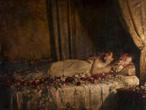 thorsteinulf:  John Collier - The Death of Albine (1898)