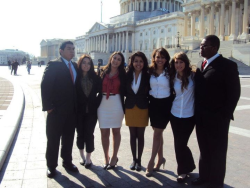If you hadn't already, meet the NATIONAL LULAC YOUTH BOARD.  (left to right) Chris Merino, Treasurer, Elizabeth Zepeda, VP for Farwest, Nikki Suarez, VP for Young Women, Sandra Jurado, Youth President, Roxanne Ribot-Gonzales, VP for North East, Dianne Calix, VP for Northeast, & Damiko Motley, VP for Southwest.