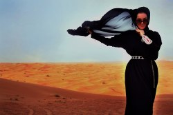 Abaya in the desert