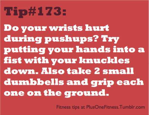 plusonefitness:  Fitness tip #173