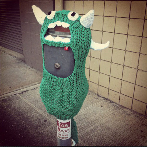 Yarn Bombing by Hanasaurusrex