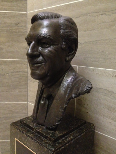 Delivering Buck to the State Capital. This bust of Walter Cronkite, by William J Williams is one of my favorites of the 40 or so busts here.