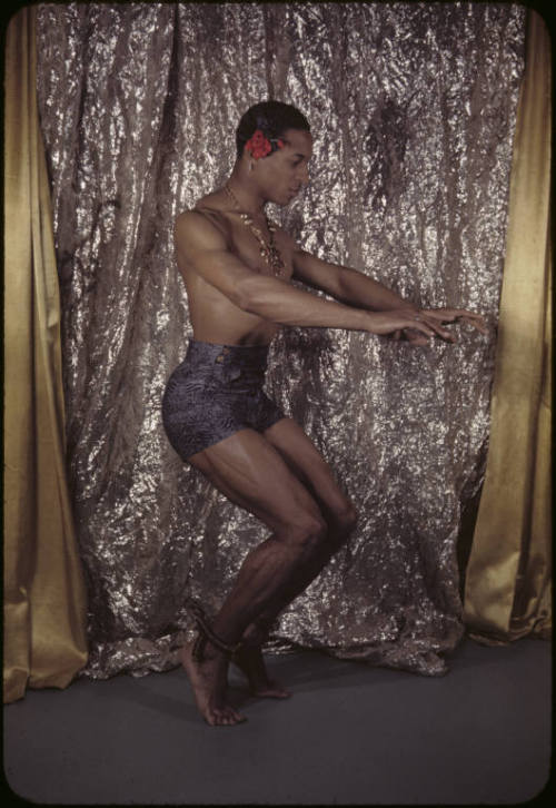 "Archie Savage photographed by Carl Van Vechten, 1942. ""African American actor and choreographer, performed in South Pacific and La Dolce Vita."""