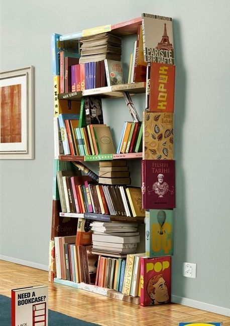 rebeccatracha:  bookshelfporn:  A bookshelf made out of books.  I should probably just make a separate blog for future craft/DIY projects…but for the meantime, THIS.