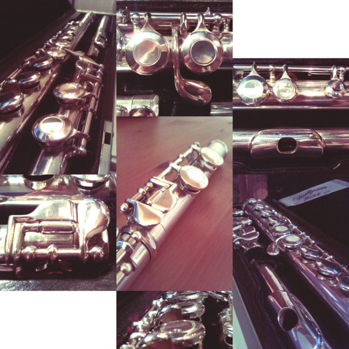 "Here's the cont. post I promised about trying out a new flute!This is my current favourite! I'm keeping it to try it out more but I will recieve another Miyazawa and an Altus this week to compare with, they might not have a chance against this one but I still like to try them. Miyazawa 375 (Solid Silver)This was the only ""second-hand"" flute they sent to me. When I called the company and spoke to the guy who was responsible for the flutes about trying out a few, I asked about this one from the list. He was very nice and went to check it up and said ""Oh, you can really see it's old and used…"" but he sent it to me anyway! :DI had low expectations on it but it wasn't as bad as I thought. (This was also the only one with covered holes I got btw) I was a little sceptic to it at first since it wasn't as shiny as the others haha. But ohh I love it now! :3 My first impressions of it (except the old look) was that it was very comfortable to hold, though it was a bit more heavy than the others because of the material.It was a little bit hard for me to sound the lowest and highest notes at first, but as I've got used to it it's not that hard anymore. When I talked to my teacher about that in my lesson we came to the conclusion that it was simply bad techniqe skills from my side and that I have a good opportunity to work on that with the Miyazawa. The tone is soft and warm which I really really like :)The mechanic is quiet & responsive and the key springs are even - I have problems with that on my own flute, the keys on the footjoint are really tough and it has caused me some pain in my pinkyfinger at some times when I've practiced a lot. On the minus side there are a few problems that could be fixed. It certainly needs a bit of renovation. It would absolutley just make it even better!The headjoint is very loose and this makes it hard to tune - I have markings on my Yamaha to see that the bodyparts are joint together straight, but the Miyazawa doesn't have those so I had to learn how to do it without those, hah. Then when I tune the Miyazawa and get it right it might not be in line and I have to screw it even more and then it easily slips out of tune again… also I had it on my flutestand the other day and wanted to practice, so I grabbed it around the headjoint to pick it up as usually do (I know I should grab it at the joint between head and body) - what I got was a headjoint and the rest of the flute was still on the stand…I took it to my lesson two weeks ago and my teacher had a look at it. She had a good look on the pads and showed me since I hadn't looked at them in more detail - and they are in big need of being changed, a few of them are about to crack :/ it made sense to why some tones were more ""fizzy"" than others…I also like to have it throughly polished if I buy it :3 I really really like it! :DI took out my Yamaha the other day and it felt like a stranger. It was so lightweight and sounding in the mechanic… but it's about 9 years old… and still very good anyway, it serves very well as a beginners flute :)"