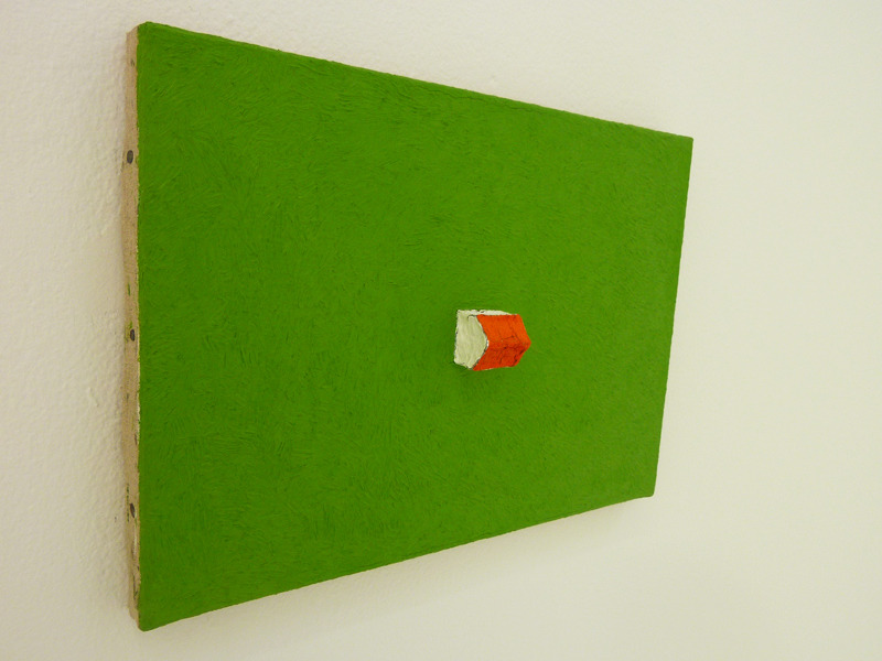 I enjoyed these tiny paintings from Jean-Frédéric Schnyder's LANDSCHAFT I-XXXV (1990/91) series in his exhibition at the Swiss Institute (through February 26).