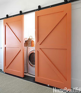 Fab idea for a country-chic laundry room!