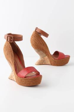 kaati wedges in red from anthropologie, $168