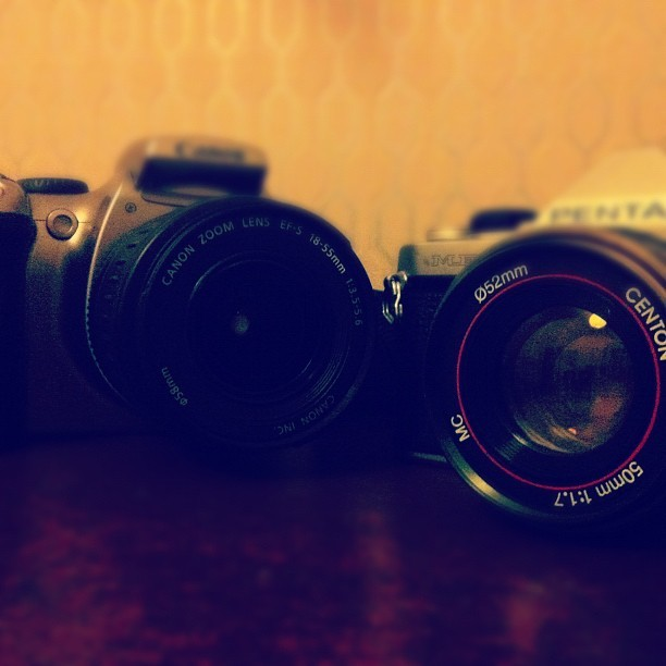 SLR vs Film (Taken with instagram)