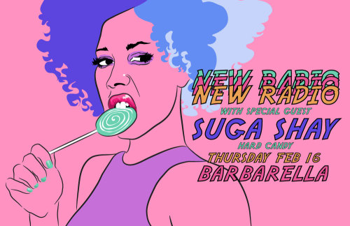 my latest illustrated flier for NEW RADIO (my riot grrrl night at barbarella)