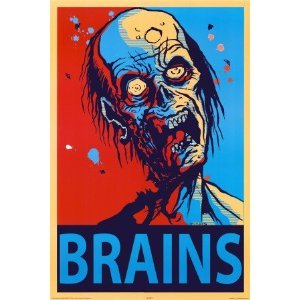Brains Zombie Poster 24x36 Horror Poster Print, 24x36 Poster Print, 24x36 Click on picture for more details.