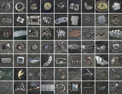 curiositycounts:  A collection of photos of objects embedded in New York City's asphalt – an oddly addictive piece of visual urban anthropology.    (via)