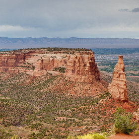 Monument Mesa under the rain by Frenchie & Pop C.