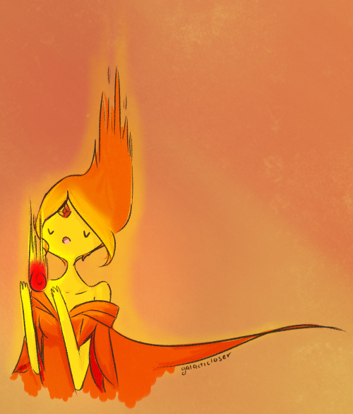 galacticloser:  I really love to draw Flame Princess, especially with little balls of fire o 3o  I simply love this~