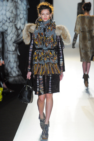 "What is your favorite ""wild thing"" from @mulberry_editor Fall 2012 show #nyfw? This look is my favorite because the prints are contradicting and the over-sized, cozy scarf is belted and shaped at the waist. This look, as bulky as it is, is surprisingly flattering.   Can't wait to mimic. See all the celebs that are raving…"