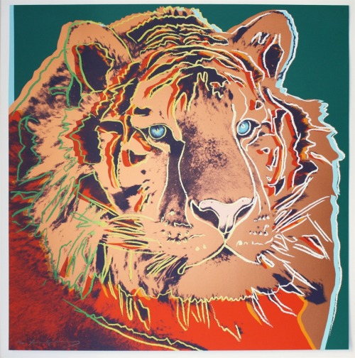 devidsketchbook:  Andy Warhol: Siberian Tiger