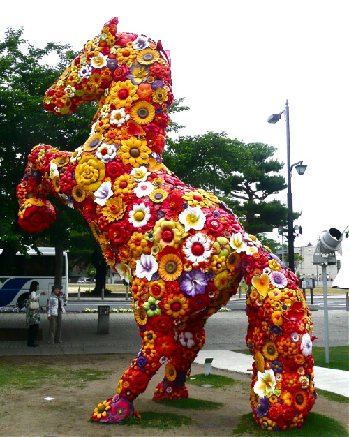 Towada Arts Centre   Jeonghwa Choi - Flower Horse