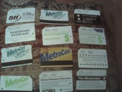 A collection of my metrocards lol