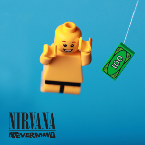"""Happy Birthday Kurt Cobain. My LEGO tribute."" — Debbie Hickey"