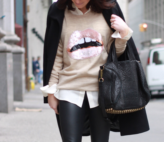 Markus Lupfer Sequin Lip Sweater (vía Austique)