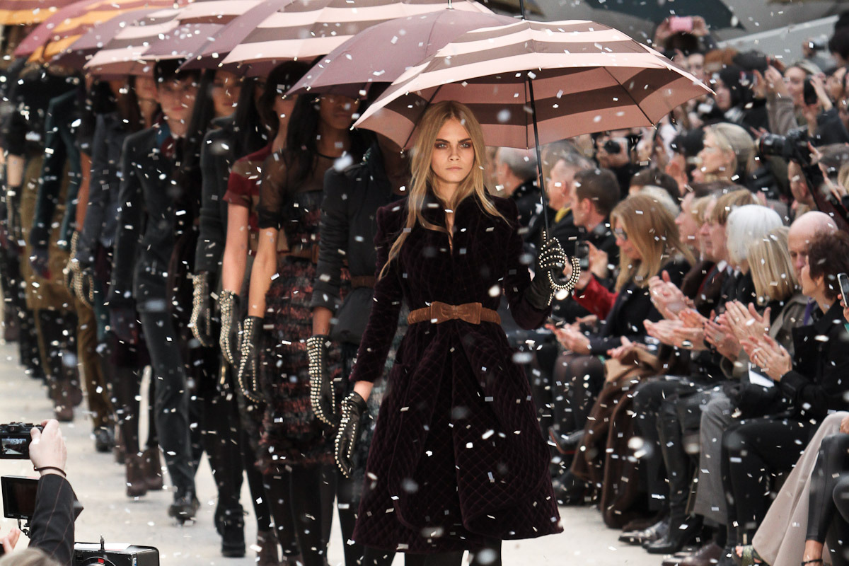 Burberry Fall 2012 finale at London Fashion Week