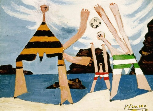 "Pablo Picasso ""Bathers with Beach Ball"" (Baigneuses au ballon) 1928."