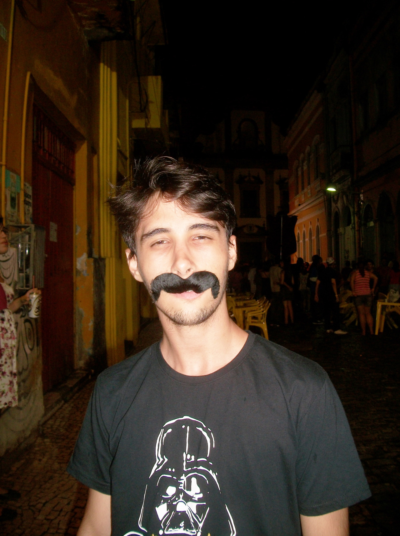 My fake mustache! In carnival on Brazil!