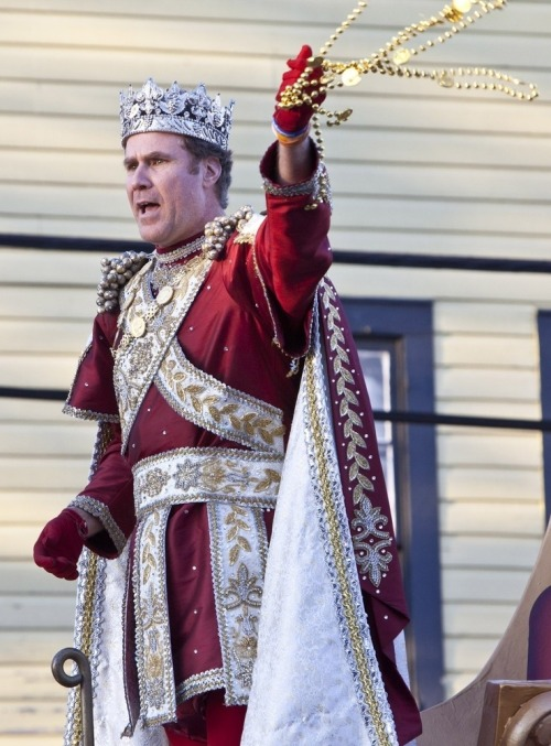 "The King's Beads. Will Ferrell was the ""King of Bacchus, showering Mardi Gras revelers with beads, doubloons and—yes—little cowbells."""
