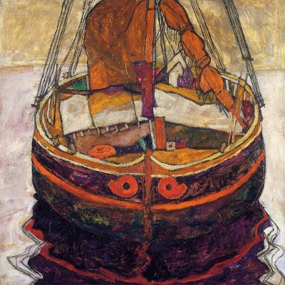 missfolly:  Trieste Fishing Boat, 1912, by Egon Schiele