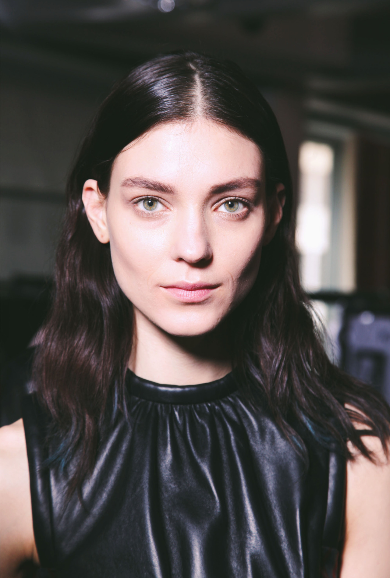 Kati Nescher backstage at Christopher Kane Fall 2012