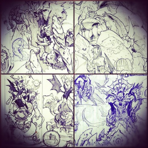 sketches #capcom #darkstalkers # #art #archives  (Taken with instagram)