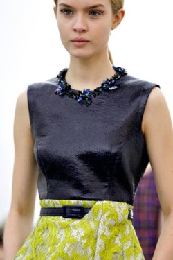 Another photo of Erickson Beamon for Erdem AW12! Photo courtesy of Style.com