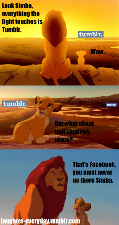 laughter-everyday:  The Lion King, Mufasa's morning lessons about social networks to Simba lol.
