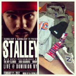 The Swag Bag for the @kriskasanova show. Thanks @only_ny @stancesocks @westnyc @whit3boy (Taken with Instagram at Westnyc)