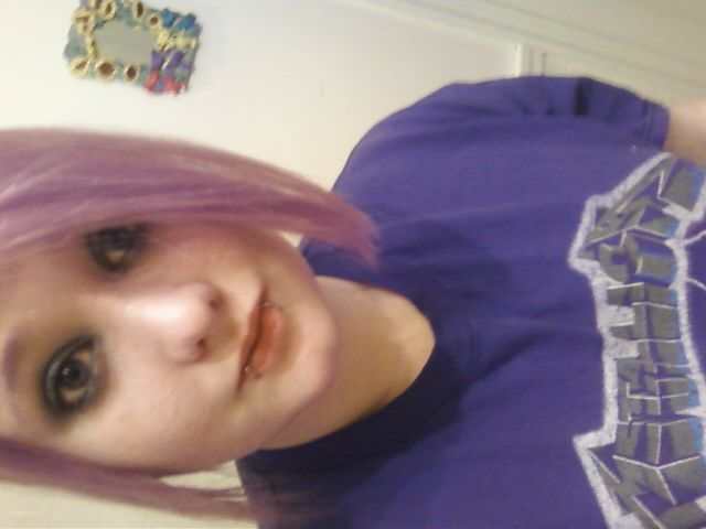 My hair isn't purple…Metallica ;D