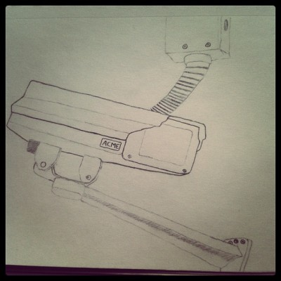 Keeping an eye on things #terribledrawingoftheday  (Taken with instagram)