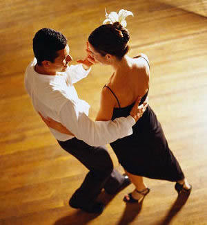 Couple dancing salsa… this captures a little bit of the magic of salsa dancing, somehow