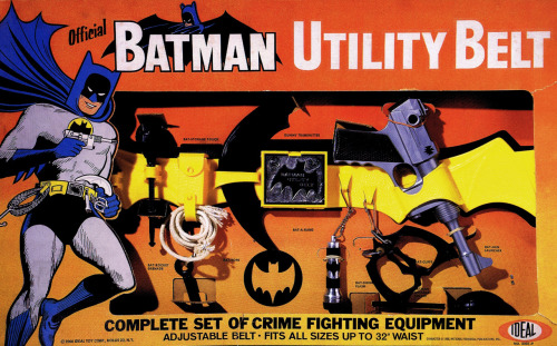 heyoscarwilde:  Fits all sizes up to a 32' waist. Batman Utility Belt set circa 1966 :: scanned from Chip Kidd's Batman Collected :: Little, Brown & Company :: 1996  I would use this.