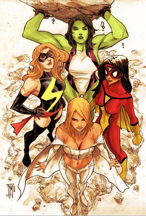 The Women Of Marvel // artwork by Francis Manapul and Andrew Kwan (2010)