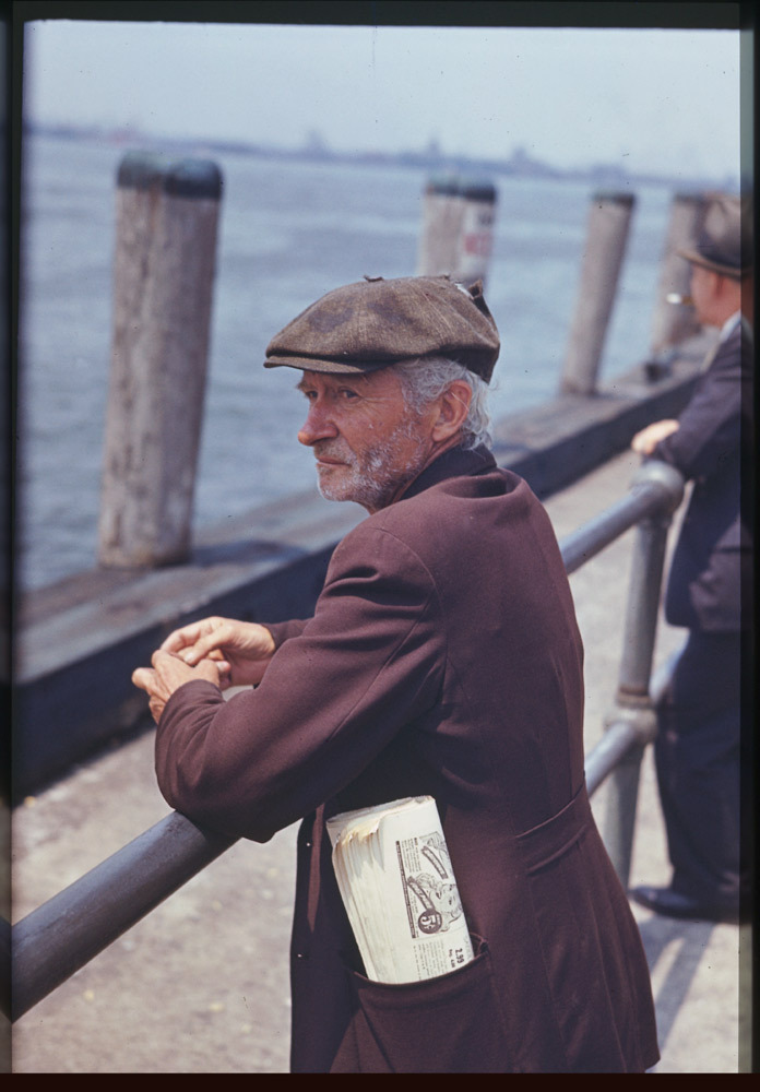 Battery Park, New York City 1941  From the incredible Charles W. Cushman Photographic Collection at the Indiana University.   Charles Weever Cushman, amateur photographer and Indiana University alumnus, bequeathed approximately 14,500 Kodachrome color slides to his alma mater. The photographs in this collection bridge a thirty-two year span from 1938 to 1969, during which time he extensively documented the United States as well as other countries.