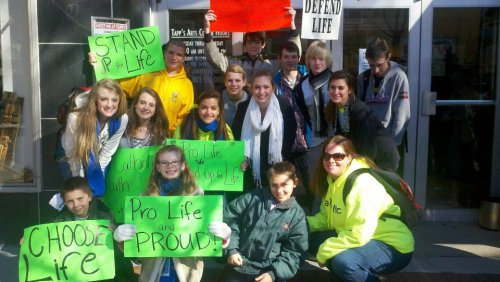 my group at our state's March for LIfe!