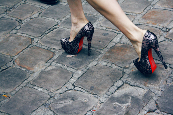 @LouboutinWorld outside @CHANEL