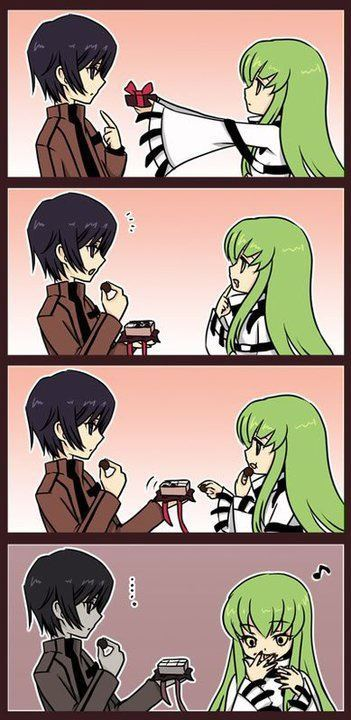 Wahaha, oh so true. domo-landia:  *-* sdjnak Lo Amo Lelouch And C.C *—*