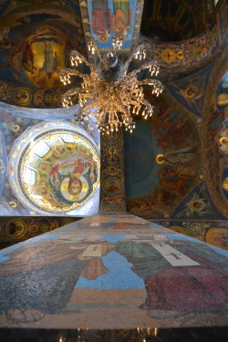 Wall to wall mosaics. Church of Spilled Blood St. Petersburg, Russia Summer 2011