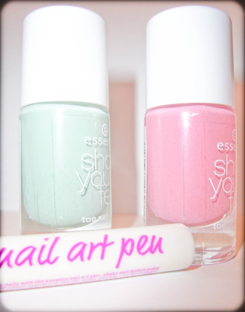 "My new pastel colour nail polishes! These ones are supposed to be toe nail polishes, 'cuz they last longer and have special anti-bacterial formula. The pastel colours of this ""Show your feet"" edition are so great! And for now while I'm waiting for spring-summer to show my toes, I'll use it for my manicure:) Be pastel&cool! xx"