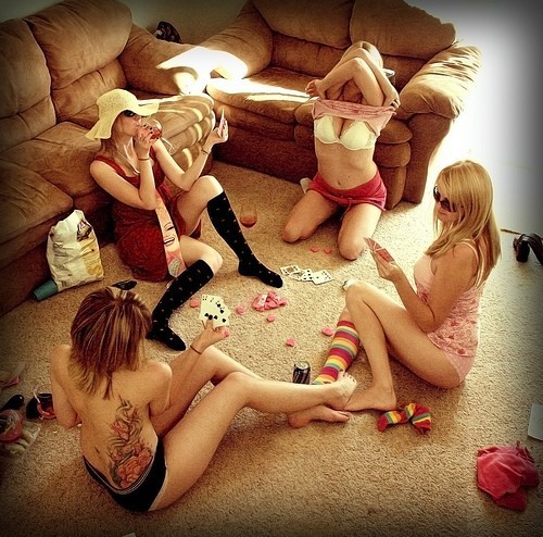 What about a poker with some girlfriends?…