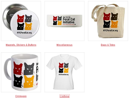 Check out our new New York City Feral Cat Initiative logo shirts, mugs, water bottles, tote bags, and more! A portion of each purchase helps NYC's feral cats and kittens. Buy Now…
