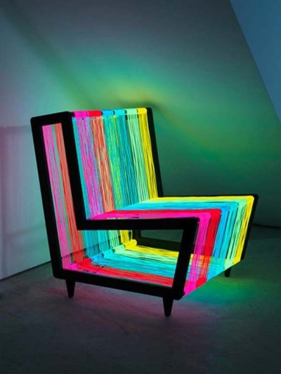 kaleidoscope-mind:  Disco chair.by Kiwi and Pom