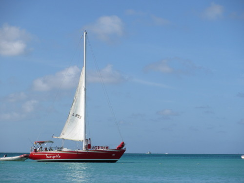 Sailboats in Aruba =)